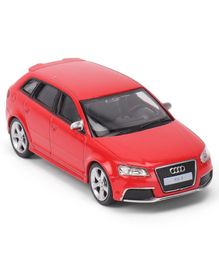 RMZ Audi RS3 Sportback Die Cast Free Wheel Toy Car - Red