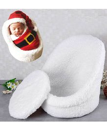 Babymoon Photography Shoot Prop Baby Posing Chair Seat - White