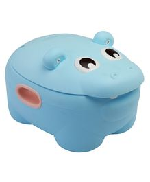 LuvLap  Hippo Dippo Potty Chair With Lid - Blue