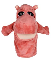 Kuhu Creations Animal Pink Hippo Hand Puppet - Pink