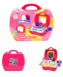 VibgyorVibes Deluxe Pretend Play Make Up Case And Cosmetic Set - 20 Pieces