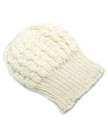 Magic Needles Turkish Yarn Cable Knit Cap - White