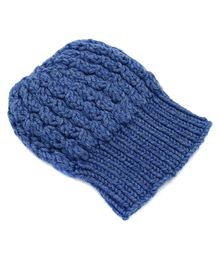Magic Needles Turkish Yarn Cable Knit Cap - Blue