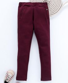 Gini & Jony Full Length Solid Color Jeggings - Maroon