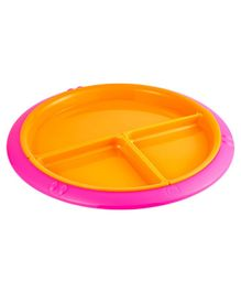 Mothercare Section Divider Plate - Orange Pink
