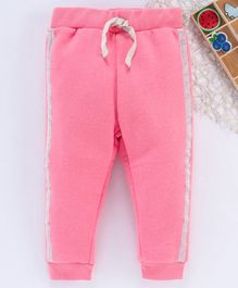 Fox Baby Lounge Pant With Drawstrings - Pink