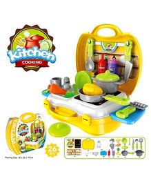 Yamama Pretend Play Kitchen Set - Yellow