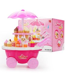 Yamama Ice Cream Shop Set Toy With Lights and Music - Pink