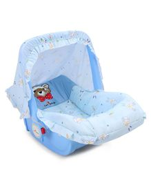 1st Step 3 In 1 Cozy Carrycot Cum Rocker Bunny Print - Blue