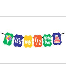 Syga Half Month Birthday Banner - Multicolor