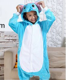 Pre Order - Awabox Full Sleeves Elephant Theme Jumpsuit - Blue