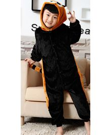 Pre Order - Awabox Full Sleeves Animal Theme Jumpsuit - Black