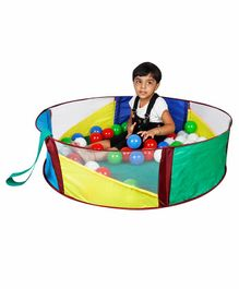 Kiddie Fun Baby Ball Pool With 50 Balls - Multicolour