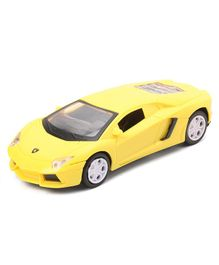 Friction Sports Car Toy - Yellow