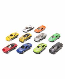 Die Cast Free Wheel Toy Cars Multicolor - Pack of 10