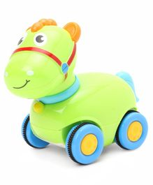 Horse Shaped Baby Friction  Push & Go Toy - Green