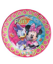 Disney Minnie Mouse Club House Paper Plate Small - Pink
