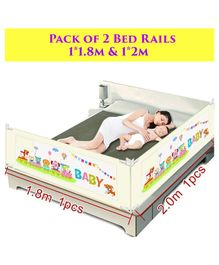 Syga Pack Of 2 Baby Bed Rail 2.0 m x 1 Piece & 1.8 m x 1 Piece - Cream