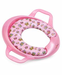 1st Step Cushioned Potty Seat With Handle Butterfly Print - Pink