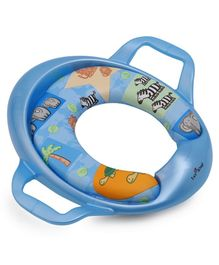 1st Step Cushioned Potty Seat With Handle Animal Print - BLUE
