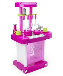 Pretend Play Kitchen Set With Light & Sound - Pink