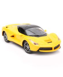 Battery Operated Remote Control Racing Car - Yellow