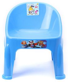 Plastic Chair With Bunny Print - Blue