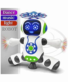 FunBlast Dancing Robot With 3D Lights & Music - White