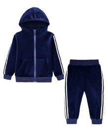 Pre Order - Awabox Side Tape Full Sleeves Jacket & Bottom Set - Blue