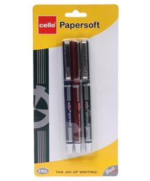Cello Papersoft Ball Pen Blue - 3 Pieces