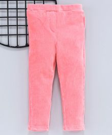 LC Waikiki Solid Full Length Elasticated Pants - Light Pink