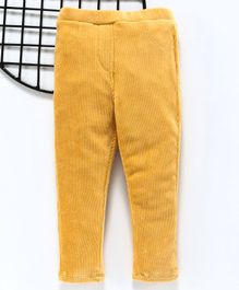 LC Waikiki Solid Full Length Elasticated Pants - Yellow