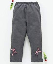 LC Waikiki Bow Detailed Full Length Pants - Dark Grey