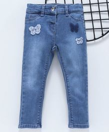 LC Waikiki Full Length Butterfly Patch Jeans - Blue