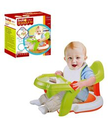 Planet of Toys 2-in-1 Sit Snack & Go Baby Seat - Green Red