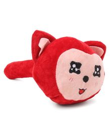 Cat face Plush Musical Hammer - Red