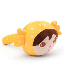 Girl Shaped Plush Musical Hammer - Yellow