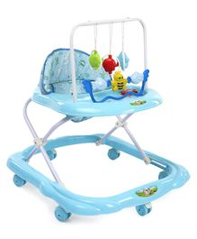 Baby Walker With Attached Hanging Toy - Blue