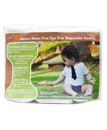Bdiaper Disposable Chemical Free Nappy Pads - 45 Pieces