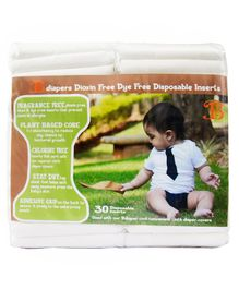 Bdiaper Disposable Chemical Free Nappy Pads - 30 Pieces