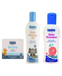 Babuline Baby Soap Baby Massage Oil Baby Shampoo - Pack Of 3