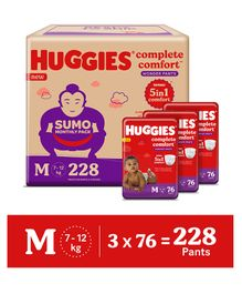 Huggies Wonder Pants Diapers Sumo Pack Medium Size - 228 Pieces