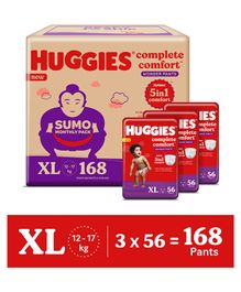 Huggies Wonder Pants Diapers Sumo Pack Extra Large Size - 168 Pieces