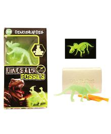 Skylofts Chocozone Dinosaur Excavation Kit With 2 Glow in the Dark Dinasours - Green