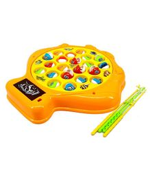 Skylofts Chocozone Fish Catching Game Big With 21 Fishes and 4 Pods - Orange