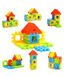 Skylofts Chocozone Multi Color House Building Blocks with Smooth Rounded Edges - 83 Pieces