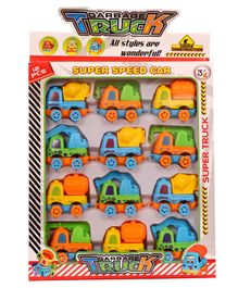 Skylofts Chocozone Construction Vehicles With 4 Style of Cars - Pack of 12