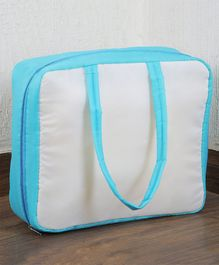 My Gift Booth  Travel Bag Organizer - White And Sky Blue