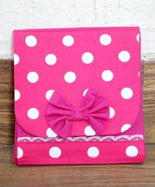 My Gift Booth Polka Organizer Bag - White Pink
