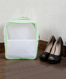 My Gift Booth Travel Shoe Organizer - White And Green